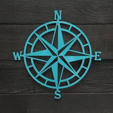 Teal Compass Rose