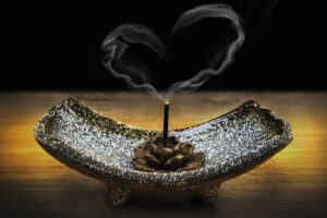 incense smoke in the shape of a heart | Balanced Body Care
